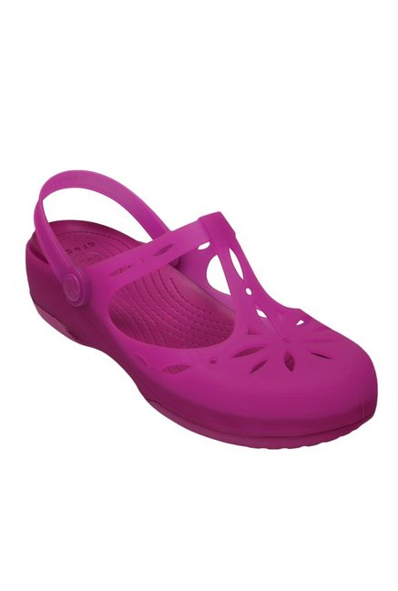 74aa9b871f4ece Buy Crocs Carlie Vibrant Violet Back Strap Clogs for Women at Best Price    Tata CLiQ