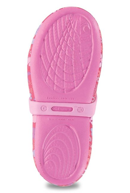 8f5fd141ac321a Buy Crocs Kids Keeley Springtime Graphic Red   Pink Mary Jane Shoes ...