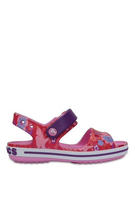 b9eba92550e2 Buy Crocs Kids Crocband Graphic Red   Amethyst Floater Sandals for ...