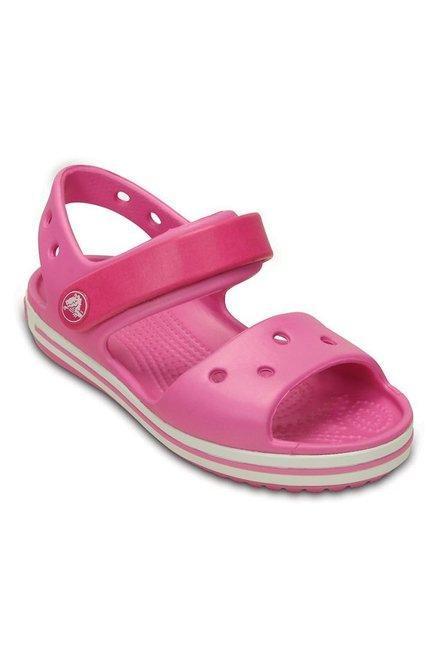 6f327ec50f86 Buy Crocs Kids Crocband Candy Pink Floater Sandals for Girls at Best ...