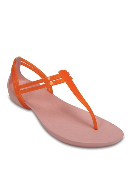 264b6f7599628 Buy Crocs Isabella Active Orange   Petal Pink T-Strap Sandals for Women at  Best Price   Tata CLiQ