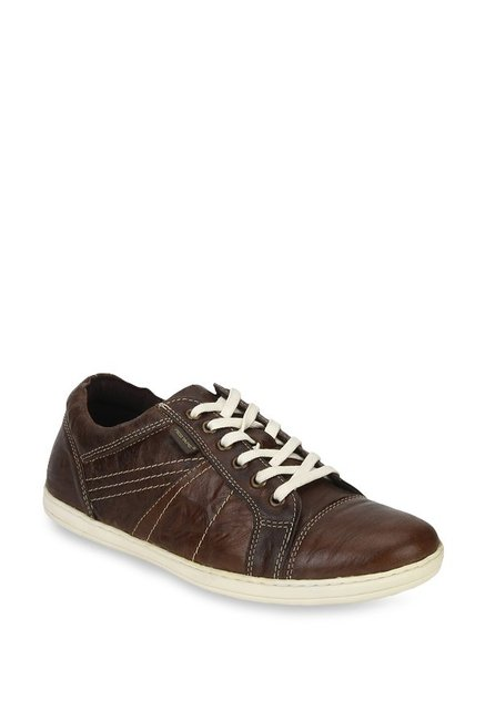 f3cc7a38b Buy Red Tape Dark Brown Sneakers for Men at Best Price   Tata CLiQ