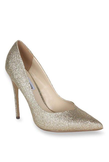 9f0031f45e6 Buy Steve Madden Wicketg Golden Stiletto Heeled Pumps for Women ...