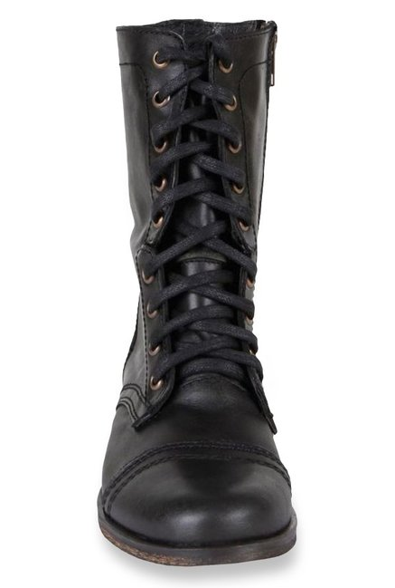 542dc3145bc Buy Steve Madden Troopa Black Derby Boots for Women at Best Price ...