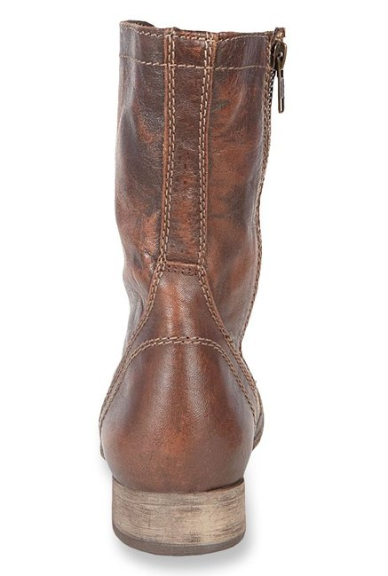 51dec51463e Buy Steve Madden Troopa Brown Derby Boots for Women at Best Price ...