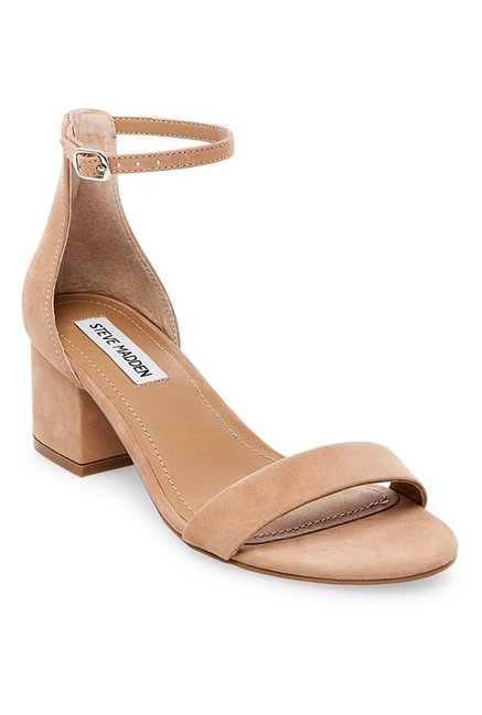 583aa0d138b Buy Steve Madden Irenee Beige Ankle Strap Sandals for Women at ...