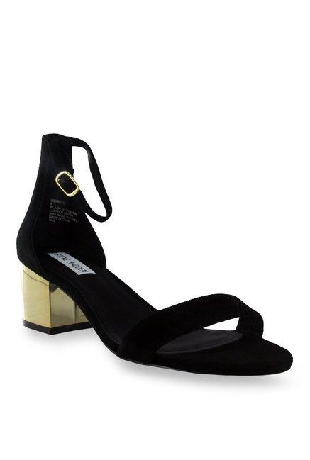 baf2131972 Buy Steve Madden Irenee Black Ankle Strap Sandals for Women at ...