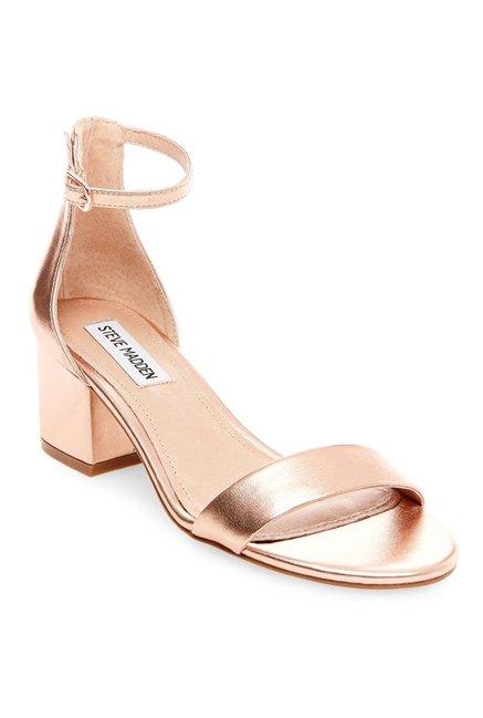 e0154e9fd184 Buy Steve Madden Irenee Rose Gold Ankle Strap Sandals for Women ...