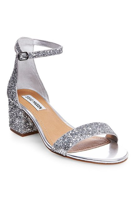 a43cda9f690 Buy Steve Madden Irenee Silver Ankle Strap Sandals for Women at ...