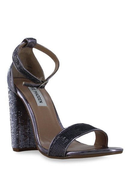 bb934bf2cc4 Buy Steve Madden Carrson Pewter Ankle Strap Sandals for Women at ...