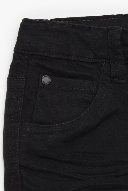 FG4 London Kids Black Solid Skinny Jeans