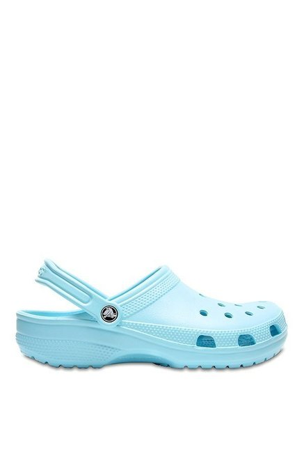 Crocs Classic Ice Blue Back Strap Clogs