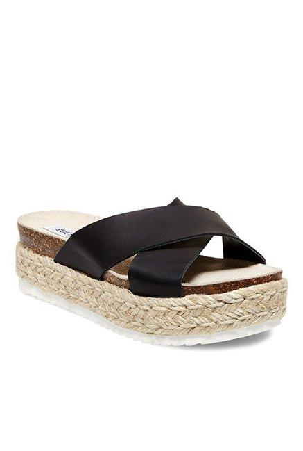 712c4d72577 Buy Steve Madden Arran Black Cross Strap Espadrille Sandals for ...