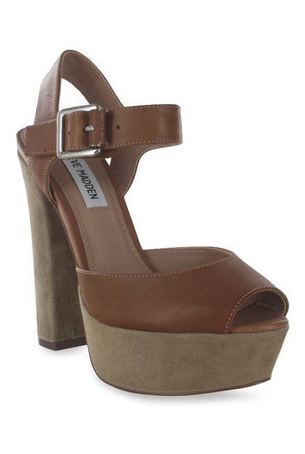 905400f266e Buy Steve Madden Jillyy Chocolate Brown Ankle Strap Sandals for Women at Best  Price   Tata CLiQ