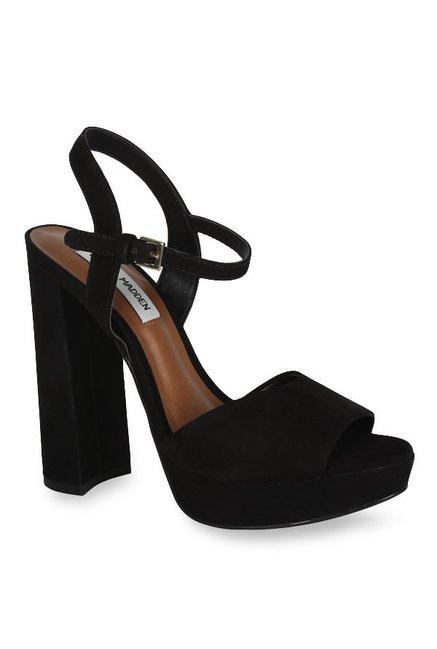 5abcdc5180c7 Buy Steve Madden Kierra Black Ankle Strap Sandals for Women at Best Price    Tata CLiQ