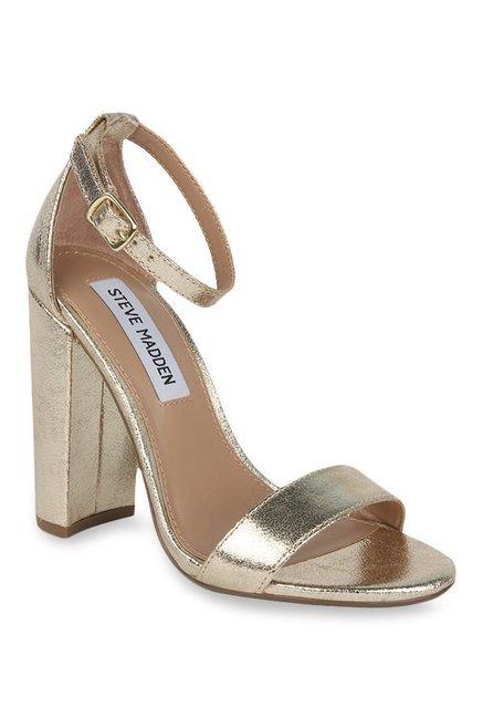 beb5b3e0b46 Buy Steve Madden Carrson Golden Ankle Strap Sandals for Women at Best Price    Tata CLiQ