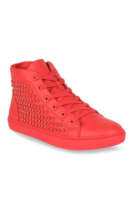 d6c19678a0b Buy Steve Madden Ivyyy Red Sneakers for Women at Best Price   Tata CLiQ