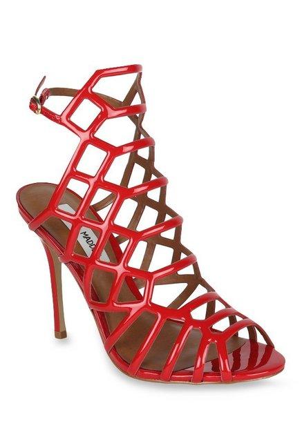 7499e3604d5 Buy Steve Madden Slithur Red Stiletto Heeled Gladiator Sandals for Women at  Best Price   Tata CLiQ
