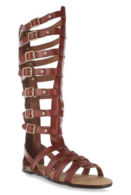 b2e435e0a2f Buy Madden Girl Penna Cognac Gladiator Sandals for Women at Best ...