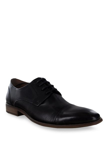 bab8f8c9902 Buy Steve Madden Crucible Black Derby Shoes for Men at Best Price   Tata  CLiQ