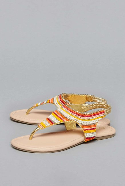 ac110bd4c7768 Buy Yellow by Westside Multicoloured Sandals For Kids Online At Tata CLiQ