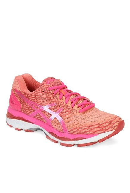Buy Asics Gel Nimbus 18 Peach & Pink Running Shoes for Women