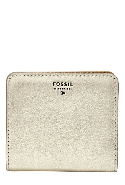 Fossil Light Gold Solid Leather Wallet