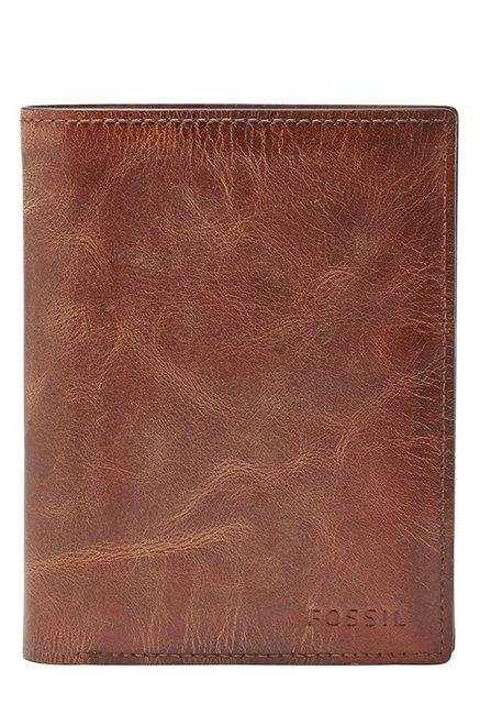 Fossil Brown Distressed Leather Bi-Fold Wallet
