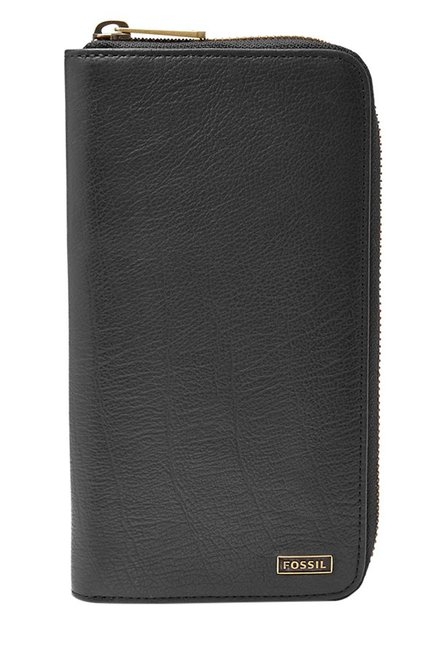 Fossil Black Solid Leather Wallet