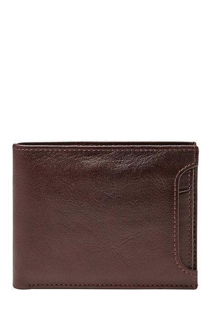 Fossil Cordovan Solid Leather Bi-Fold Wallet