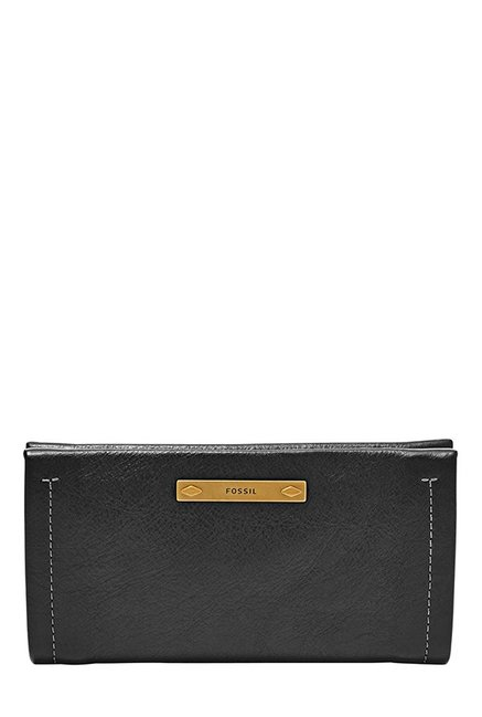 Fossil Black Stitched Leather Wallet