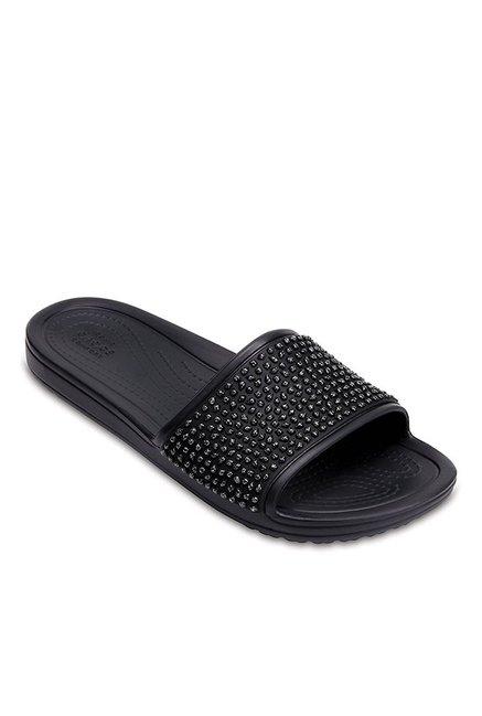 59043e1b8 Buy Crocs Sloane Black Casual Sandals for Women at Best Price ...