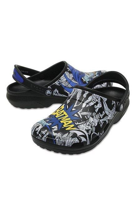 4eaeccd5b2f4 Buy Crocs Classic Batman Black Back Strap Clogs for Men at Best ...