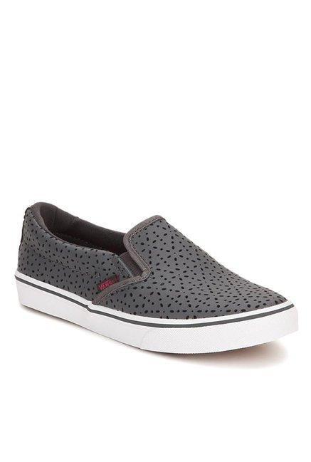 0e658c56aa8 Buy Vans Asher Perf Flowers Asphalt Grey Plimsolls for Women at ...