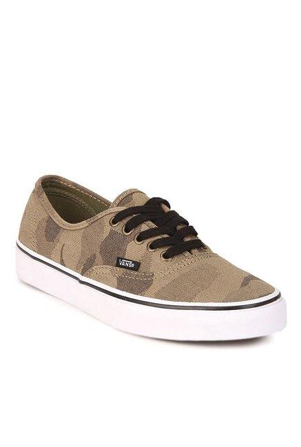 7939eb302318 Buy Vans Classics Authentic Light Brown   True White Sneakers for Men at  Best Price   Tata CLiQ