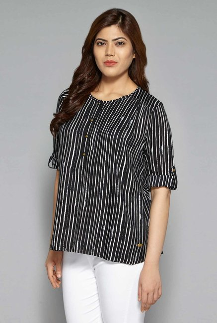 557406209 Buy Gia by Westside Black Eve Blouse for Women Online   Tata CLiQ