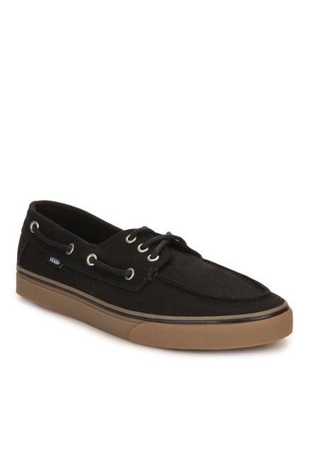 44e161f8a0 Buy Vans Surf Chauffeur SF Black   Gum Boat Shoes for Men at Best ...