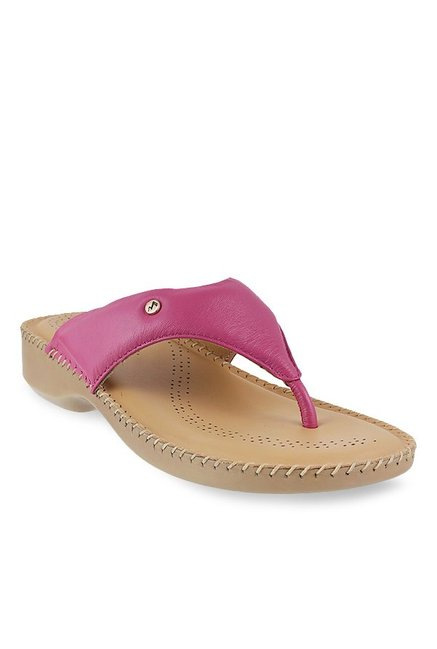 c40aafe69 Buy Metro Pink Thong Wedges for Women at Best Price   Tata CLiQ