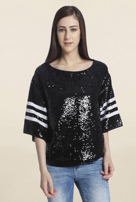 Only Black Embellished Top