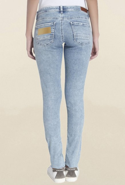Vero Moda Light Blue Slim Fit Low Rise Jeans