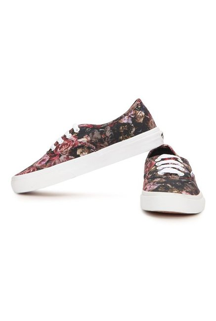 059d10d50b Buy Vans Authentic Moody Floral Black   Red Sneakers for Women at ...