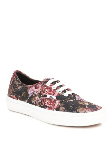 20c23b163843 Buy Vans Authentic Moody Floral Black   Red Sneakers for Women at ...