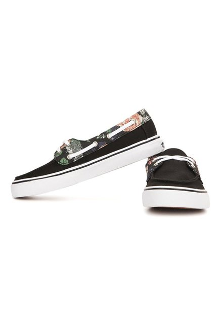 196b30d21c6a Buy Vans Chauffette Black   Green Boat Shoes for Women at Best Price ...