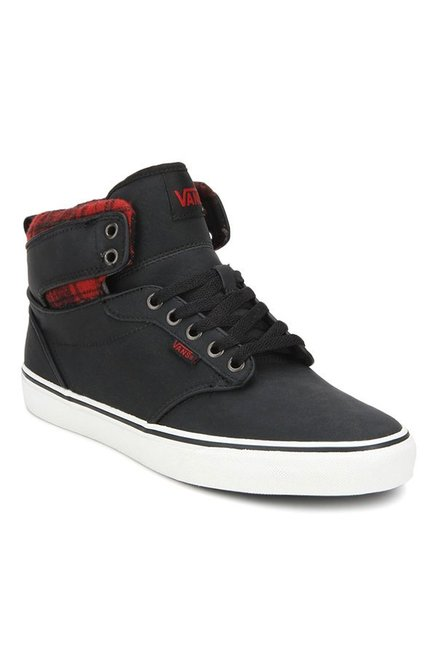 e59180a56812 Buy Vans Active Atwood Hi Black Ankle High Sneakers for Men at Best Price    Tata CLiQ
