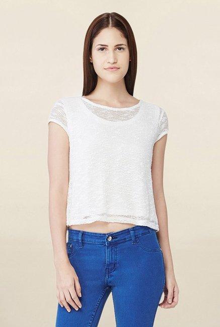 And OnlineTata White Crochet For Top Buy Cliq Crop Women 9beWD2IYEH