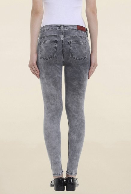 Only Grey Slim Fit Acid Wash Jeans