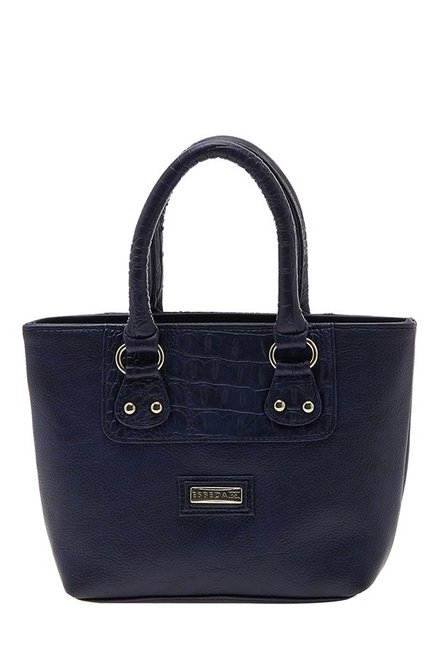 Esbeda Drymilk Navy Textured Synthetic Handbag