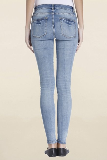 Only Blue Slim Fit Lightly Washed Mid Rise Jeans