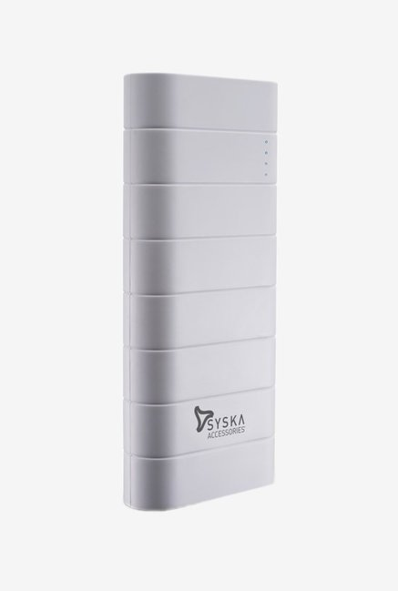 Syska Power Boost 100   10000 mAh Power Bank  White