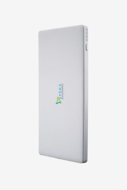 Syska Power Slice 100   10000 mAh Power Bank  White